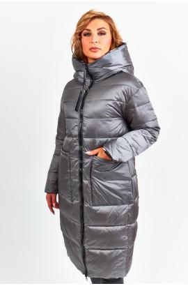 Куртка двухсторонняя удлиненная женская Tongcoi 7187 (700) Серый