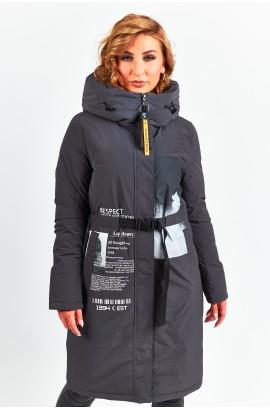 Куртка удлиненная женская Tongcoi 7757 (711) Серый