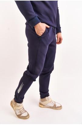 Штаны трикотажные спортивные мужские High Experience 0269 (1069) Темно-синий