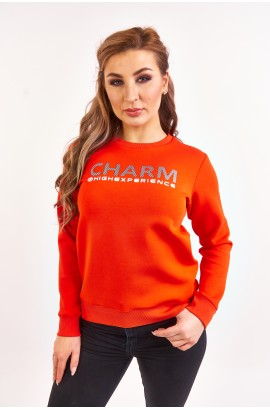 Свитшот весна-осень женский High Experience 0242 (5001) Оранжевый
