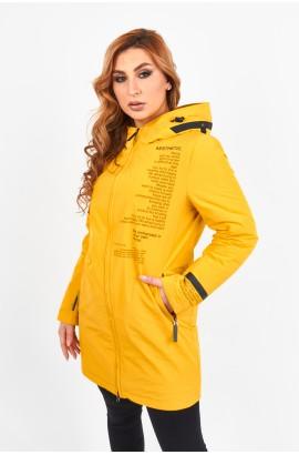 Пaркa весна-осень женская на тонком синтепоне Tongcoi 7112 (370) Желтый