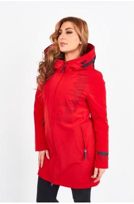 Пaркa весна-осень женская на тонком синтепоне Tongcoi 7112 (177) Красный