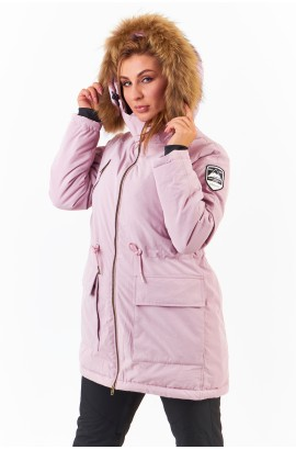 Парка женская удлиненная Motion Snow 8901 (М12) Розовый