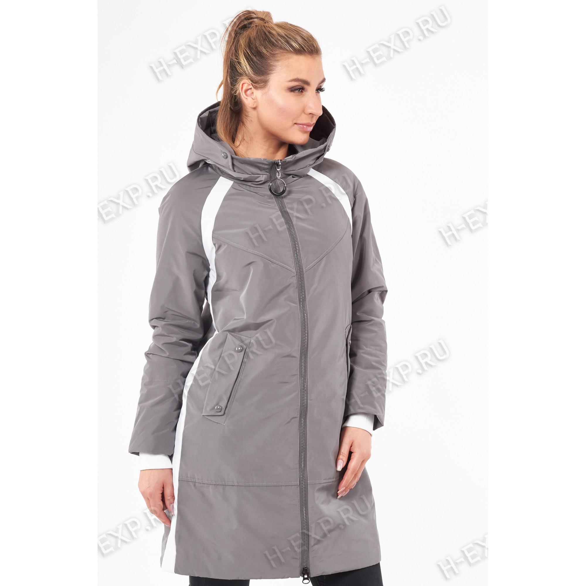 Куртка весна-осень женская удлиненная Grace 616 (016) Серый