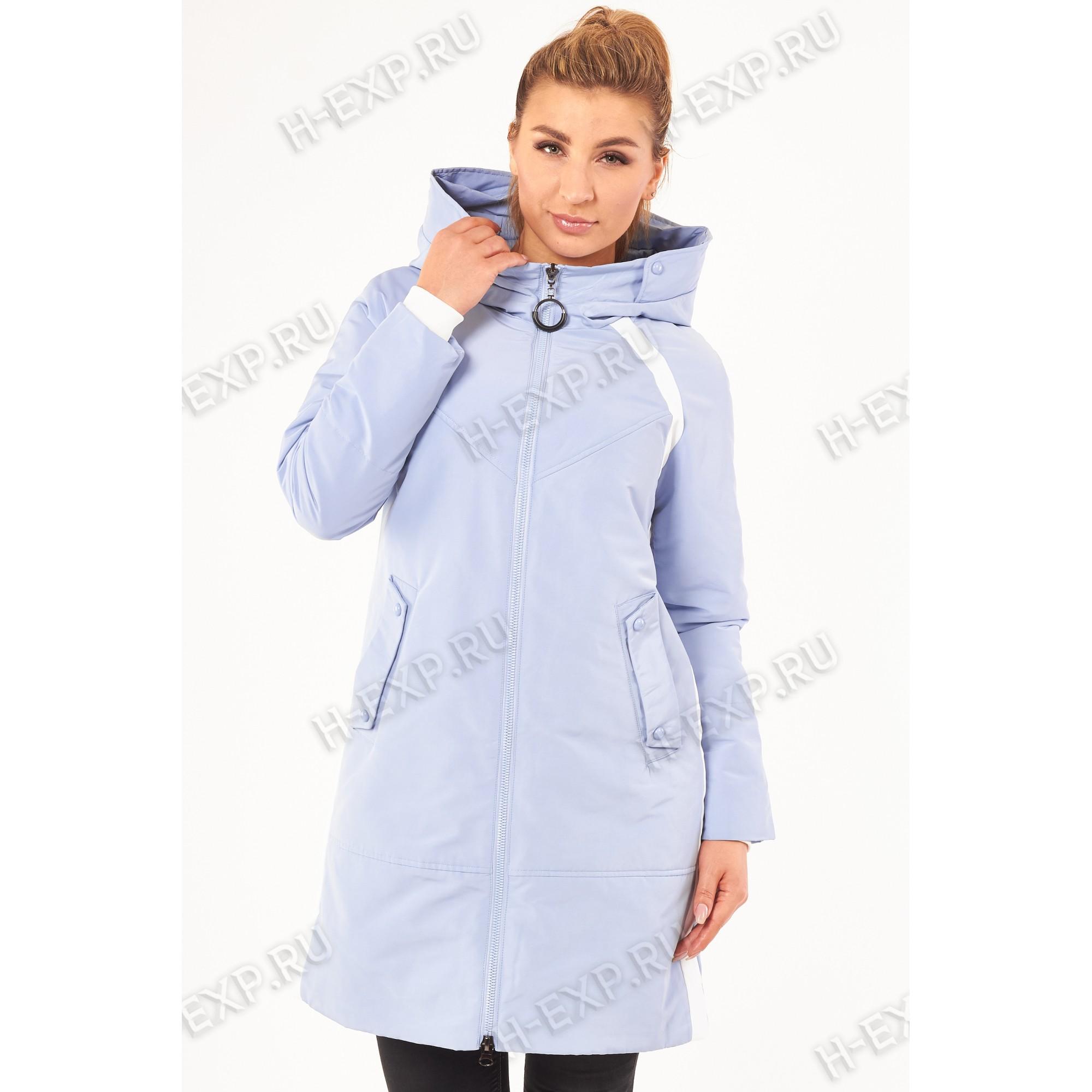 Куртка весна-осень женская удлиненная Grace 616 (013) Голубой