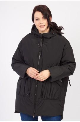 Парка весна-осень женская удлиненная Tongcoi 286-1 батал (701) Черный