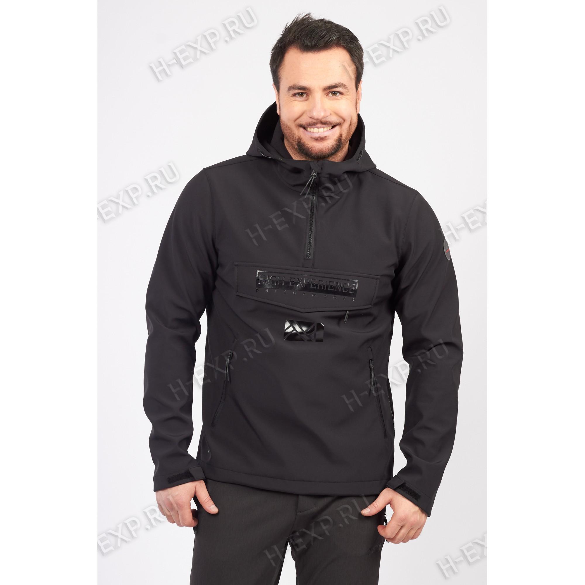Куртка-виндстоппер весна-осень мужская High Experience 11757 (0002) Черный