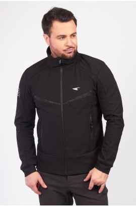 Куртка-виндстоппер весна-осень мужская WHS 310157 (В01) Черный