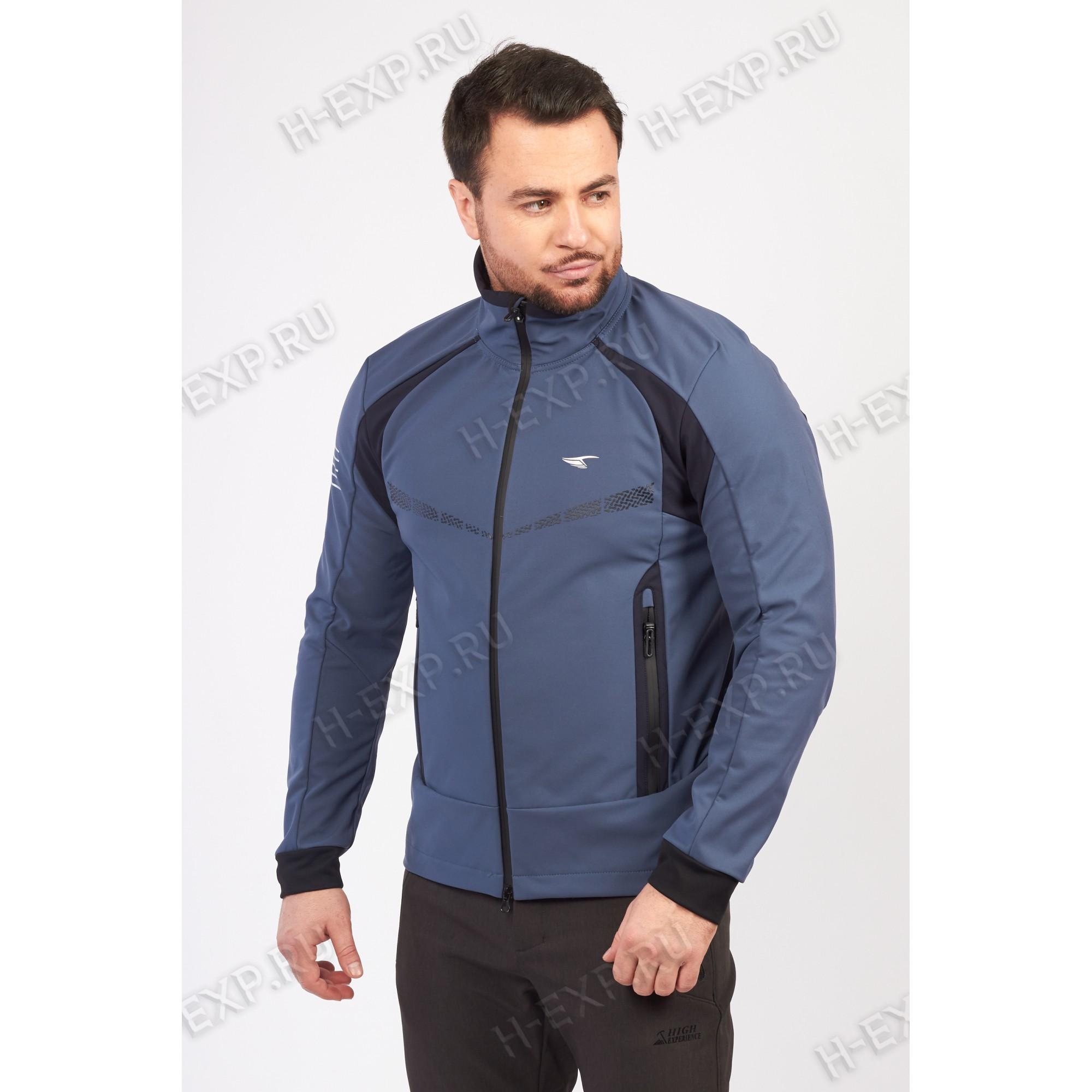 Куртка-виндстоппер весна-осень мужская WHS 310157 (L23) Джинс