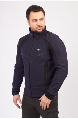 Куртка-виндстоппер весна-осень мужская WHS 310157 (L03) Темно-синий
