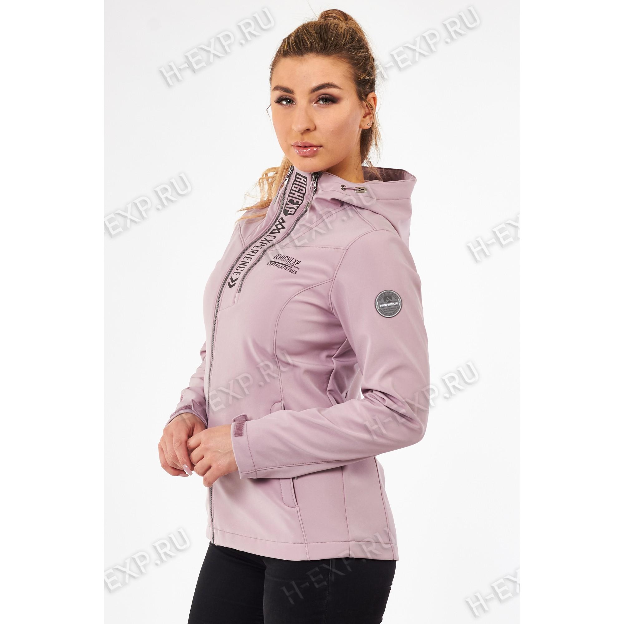 Куртка-виндстоппер весна-осень женская High Experience 11658 (4058) Пудра