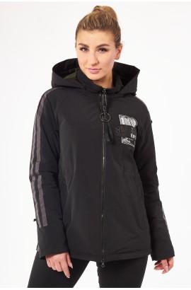 Куртка весна-осень женская Tongcoi 2101 (701+465) Черный