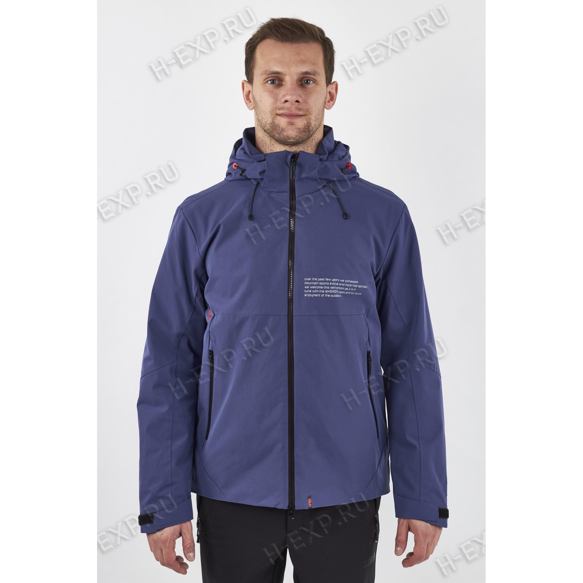 Куртка весна-осень мужская на тонком синтепоне WHS 611313 (L04) Джинс