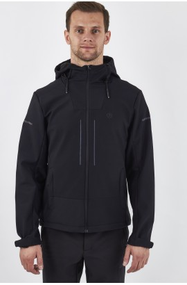 Ветровка-виндстоппер софтшелл мужская High Experience 0225 (0) Черный
