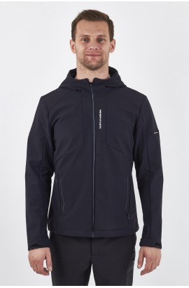 Ветровка-виндстоппер софтшелл мужская High Experience 0226 (1090) Темно-синий