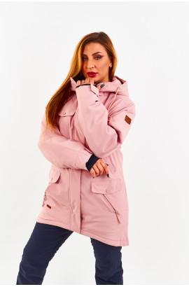 Куртка удлиненная женская Tisent 551044 (Р06) Розовый