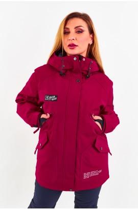 Куртка удлиненная женская Tisent 5510144 (О04) Бордовый