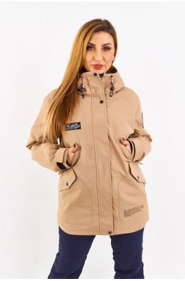 Куртка удлиненная женская Tisent 5510144 (К02) Песочный