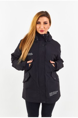 Куртка удлиненная женская Tisent 5510144 (В01) Черный
