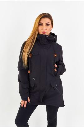Куртка удлиненная женская Tisent 551044 (В01) Черный