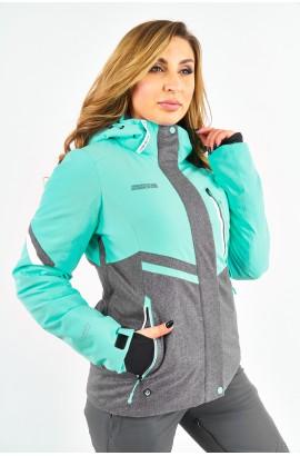 Куртка женская High Experience 11073 (6027) Бирюзово-серый